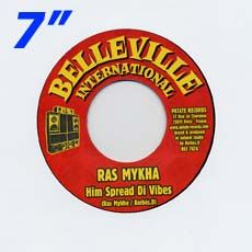 HIM SPREAD DI VIBES / HIM SPREAD DI DUB. Artist: Ras Mykha, Barbes. D. Label: Belleville /Int'l