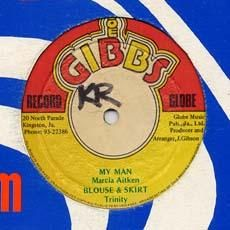 MY MAN / BIONIC MIX. Artist: Marcia Aitken  Trinity. Label: Joe Gibbs.
