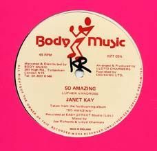 SO AMAZING / SO AMAZING PT.2. Artist: Janet Kay  The Messengers. Label: Body Music.